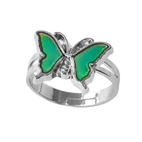 Inspiration Mood Ring Butterfly Color Change Adjust Size Decorations Finger Ring