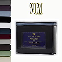 NIM Textile Luxury 1600 TC Softness Deep Pocket 4pc Bed Sheet Sets MILANO Collection - Black, Full