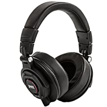 LyxPro HAS-30 Professional Over Ear Studio Monitor Headphones, Detachable Cable for Recording, Mixing, DJ & Music Listening