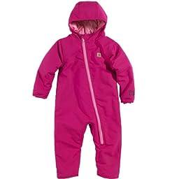 Carhartt Baby Girls\' Quick Duck Snowsuit, Pink Thistle, 6 Months