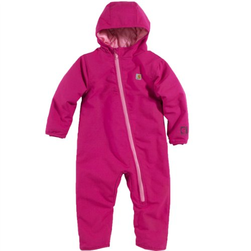 Carhartt Baby Girls' Quick Duck Snowsuit, Pink Thistle, 6 Months