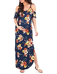 103ce28905 Women s Cold Shoulder Maternity Dress with Pockets - Made in USA