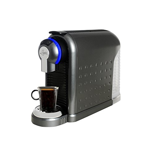 Legato Single Serve (Nespresso Compatible) Coffee / Tea / Espresso Machine (Metallic Charcoal) 30 FREE CAPSULES INCLUDED IN BOX