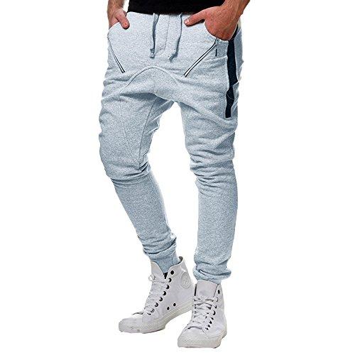 Unique Élastique Couleur Sport À Petits La Amuster Pour Mode Gris Séchage Avec Slim Pieds Pantalons De Hommes Rayé xqPtwtEIB