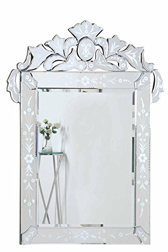 Elegant Lighting Venetian Clear Mirror, 27.6 by 0.8 by 35.8