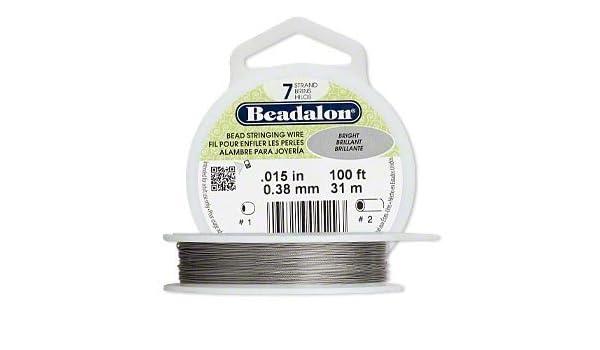 """7 Strand Wire .015/"""" Bright 100/'"""