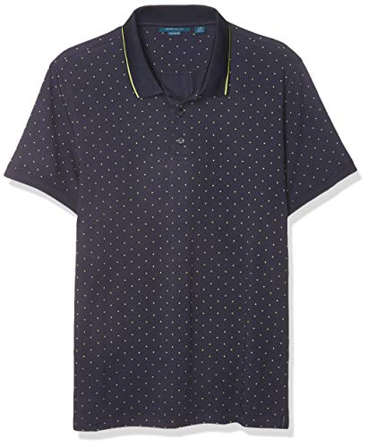 Perry Ellis Men's Pima Cotton Arrow Print Short Sleeve Polo Shirt