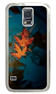 Samsung Galaxy S5 Case Cover - Fallen Leaves Custom Design Polycarbonate Hard Case for Samsung Galaxy S5 - Transparent