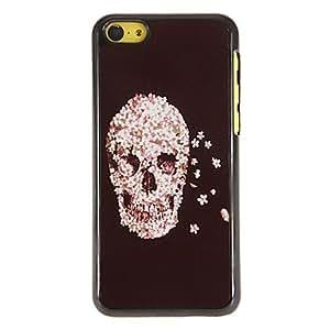 ZCL-Patrón Fauna Decorado Skull PC caso duro con 3 Almuerzos Protectores HD de pantalla para iPhone 5C