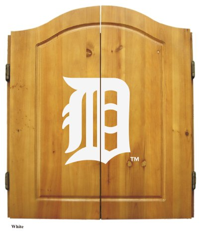 - Imperial Officially Licensed MLB Dart Cabinet Set with Steel Tip Bristle Dartboard and Darts, Detroit Tigers