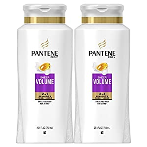 Pantene Pro-V Sheer Volume 2 in 1 Shampoo & Conditioner, 25.4 Fluid Ounce (Pack of 2)