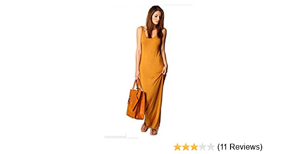 Women Summer Dress 2014 Tank Top Ankle Length Long Maxi Dress Ladies Celebrity Party Casual Dress Vestidos (L, Orange) at Amazon Womens Clothing store: