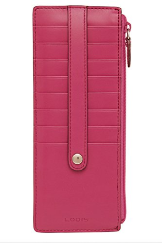 Lodis Audrey Credit Card Case with Zip Pocket - Fashion Colors