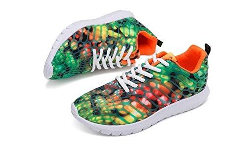 Ysfu Scarpe Sneakers Pizzo Casual Donna Outdoor Da In Stampato Fitness Traspirante Vulcanizzate Sneaker Mesh BCwqBrxg
