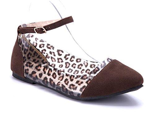 Schuhtempel24 Damen Schuhe Klassische Ballerinas Flach 1 cm Braun