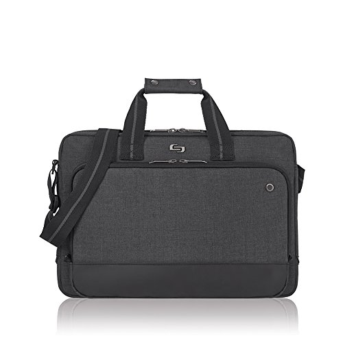 Black Red Gray Notebook Case - Solo Astor 15.6 Inch Laptop Slim Brief, Grey
