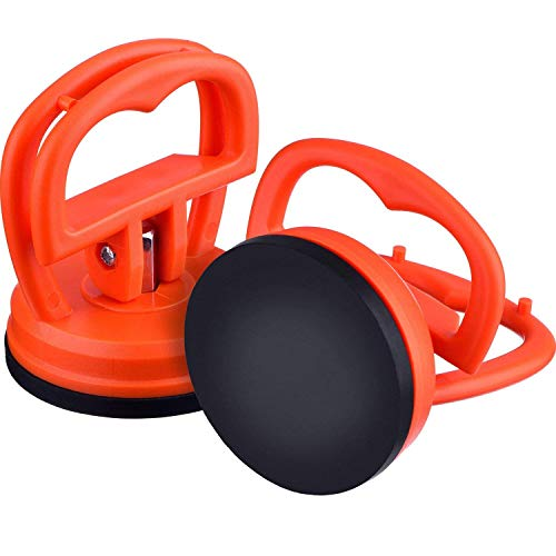 ACE SELECT 2.2 Inch Vacuum Suction Cup Set of 2 Glass Lifter for Phone Screen Repair Tool Kit - Orange