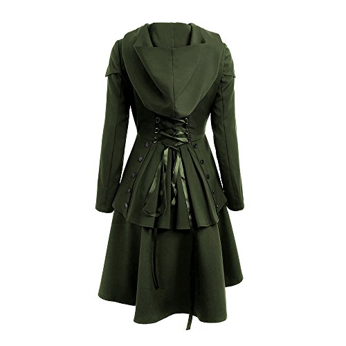 Lace Layered boutonnage Up bas Femmes manteau Casual haut Hem CharMma 8n7BYHwq8