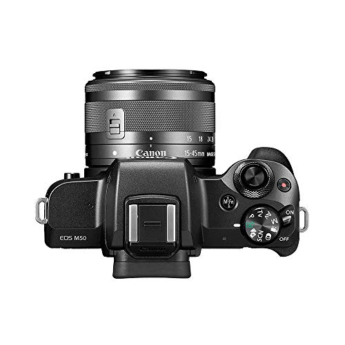Canon EOS M50 24.1MP Mirrorless Camera with EF-M 15-45 is STM Lens