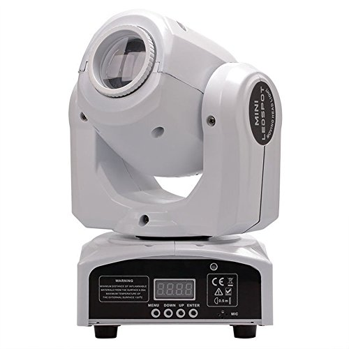 Moving Head Lights Auto Sound control Effect Master Slave Spot 60W LED RGBW Mini DMX DJ Disco Party Show KTV Laser Stage Light White Lifego by Lifego