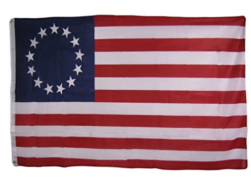 ALBATROS 3 ft x 5 ft Historical Betsy Ross Knitted Nylon Premium Flag Banner Grommets for Home and Parades, Official Party, All Weather Indoors Outdoors