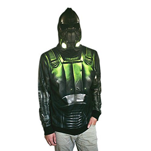 Star Wars Men's Rogue One Death Trooper Costume Hoodie, White, -