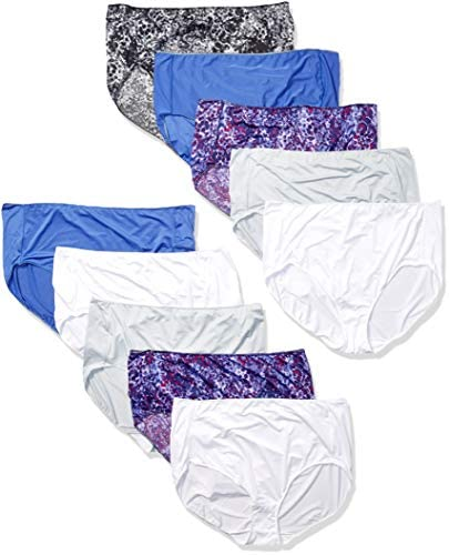Hanes Women's Cool Comfort Microfiber Briefs 10-Pack