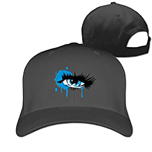 A Colored Eye With Long Eyelashes Cotton Snapback Hip Hop Hat Peaked Cap