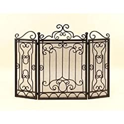 3 Panel Metal Fireplace Screen from Aspire