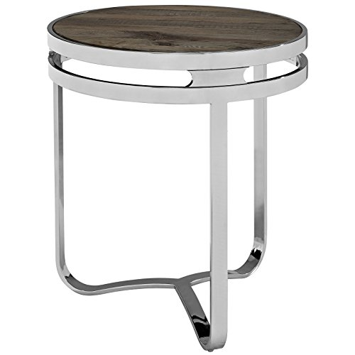 Modway Provision Wood Top Side Table, Brown