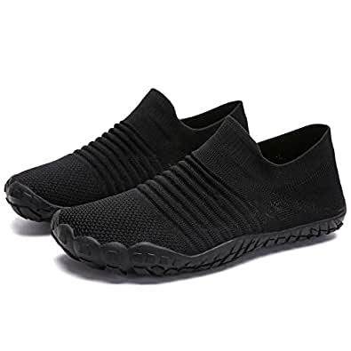 Yong Ding Women Low Top Water Shoes Ladies Soft Pool Beach Shoes Breathable Quick Dry Wading Shoes Barefoot Socks Shoes Black