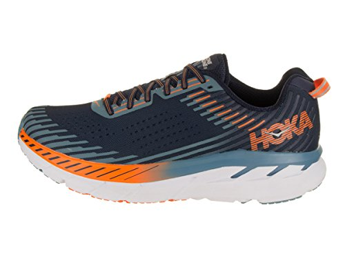 Black Clifton Hombre Hoka 5 Entrenadores One One Iris Textile Synthetic Blue Storm 11qfp7