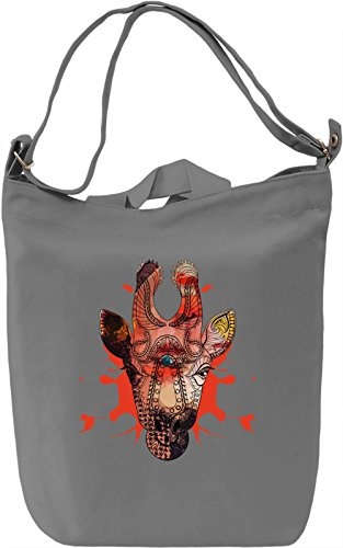 Wild Giraffe Borsa Giornaliera Canvas Canvas Day Bag| 100% Premium Cotton Canvas| DTG Printing|