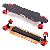 BLITZART Huracane 38' Electric Skateboard Electronic Longboard 17mph 350W Hub-Motor 3.5' 90mm (Red)