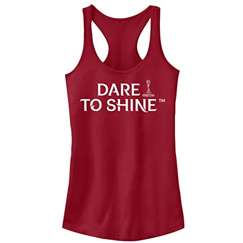 Fifth Sun Officially Licensed Dare to Shine Junior's Racerback Tank, Scarlet, Medium