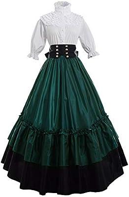 GRACEART Vestido de Traje Medieval Vestido renacentista para ...