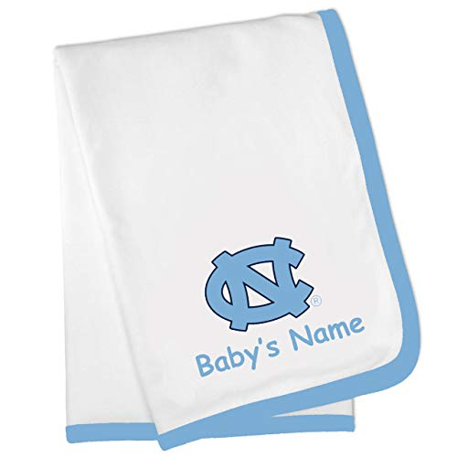 (Future Tailgater North Carolina UNC Tar Heels Custom Personalized Baby Blanket)