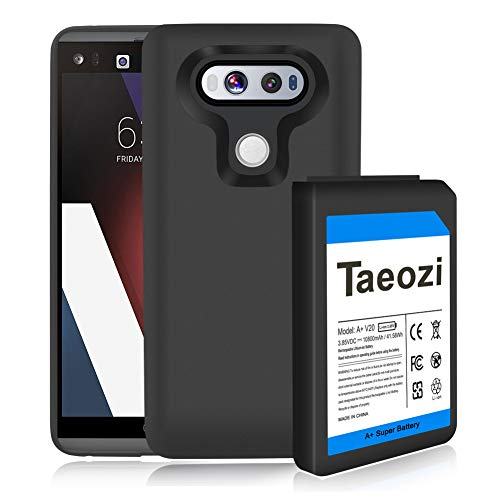V20 Extended Battery, Taeozi 10800mAh Extended Battery Replacement with Soft TPU Full Edge Protection Case for LG V20 BL-44E1F US996 H910 H918 VS995 LS997 (Up to 3X Extra Battery Life)
