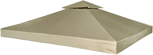 Gazebo Cover Canopy Replacement 9.14 oz/yd Beige 10'x10'