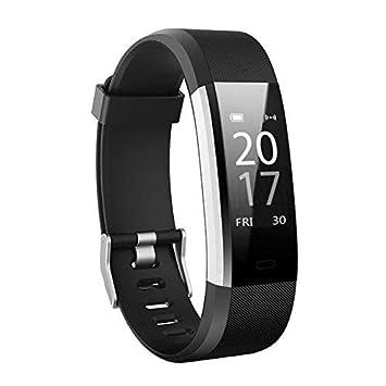 Fitness Activity Tracker pulsera inteligente | Reloj podómetro portátil con monitor de ritmo cardíaco y de ...