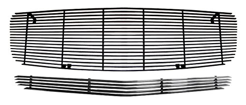 MaxMate 05-10 Dodge Charger 2PC Combo Horizontal Billet Black Powder Coated Aluminum Grille Grill Insert
