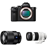 Sony Alpha a7 II Mirrorless Digital Camera w Sony FE 24-70mm F/4 ZA and Sony FE 70-200mm F4G OSS Lens Bundle