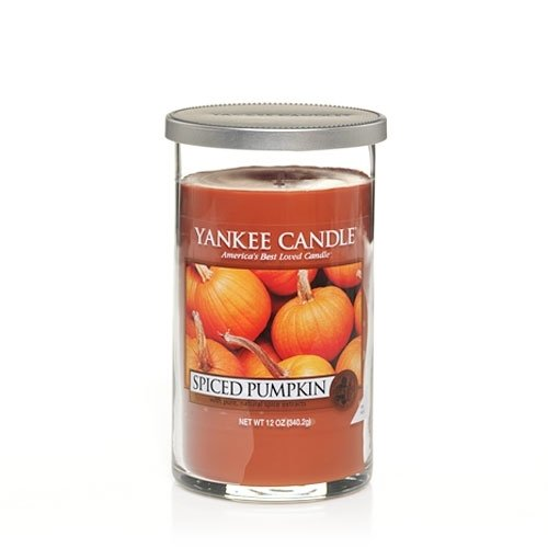 Yankee Candle Medium Perfect Pillar Candle, Spiced Pumpkin