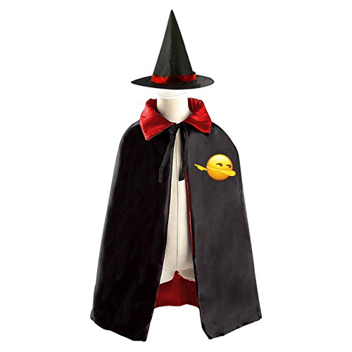 Red Dancing Girl Emoji Costume (Emoji Request Dabbing Funny Dab Dance Halloween Wizard Witch Kids Cape With Hat Party Cloak)