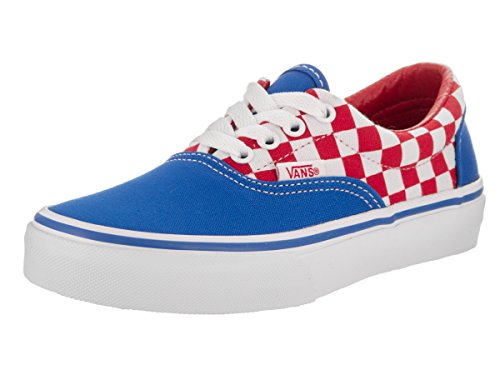 Vans Kids Era (Checkerboard) Racing Red Skate Shoe 2 Kids (Era Checkerboard)