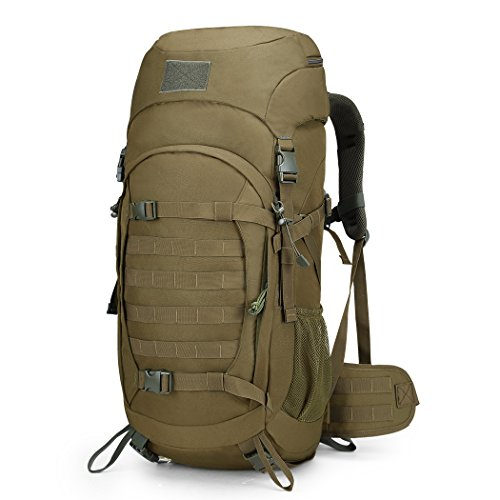 Mardingtop 50 Liter Internal Frame Backpack Tactical Backpack Military Backpack Molle Bag with Rain Cover for Hunting Shooting Camping Hiking Trekking Traveling