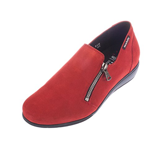 Mephisto Women's Juliane Suede Zip Slip On Shoe Red HSR0qLC