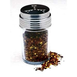 Norpro Glass Adjustable Pizzeria Pepper/salt/cheese/spice Shaker New