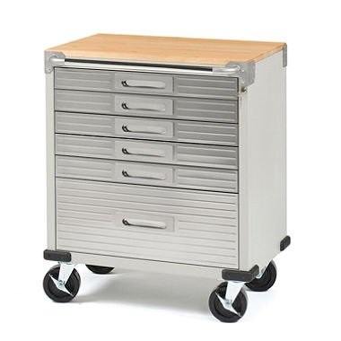 Seville Classics UltraHD 6-Drawer Rolling Cabinet Drawers Storage Cabinet Locks
