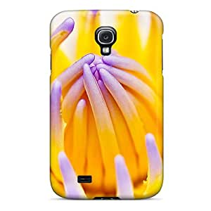 New XlZ2993cHxe Purple Water Lily Skin Case Cover Shatterproof Case For Galaxy S4